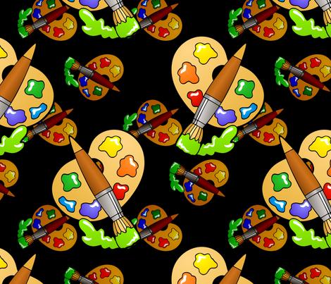 arty fabric by hannafate on Spoonflower - custom fabric