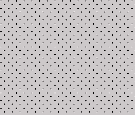 Swiss Cross Fabric in Gray and Black fabric by ireneireneart on Spoonflower - custom fabric