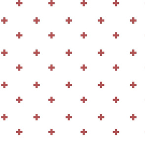 Swiss Cross Plus Sign in red and white