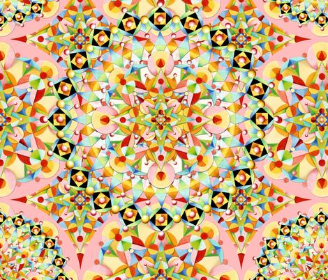 Pastel Carousel Mandala fabric by patriciasheadesigns on Spoonflower - custom fabric