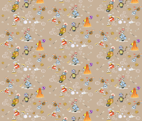 robots_pattern_-04 fabric by edithschmidtartllc on Spoonflower - custom fabric