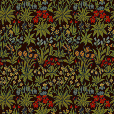 William Morrison ~ Millefleur ~ Senart fabric by peacoquettedesigns on Spoonflower - custom fabric
