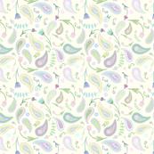 Pastel Paisley & Flowers