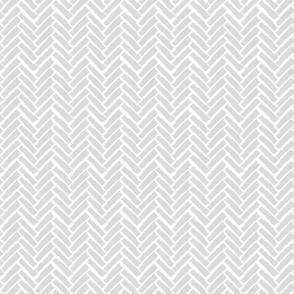Modern Herringbone, Gray