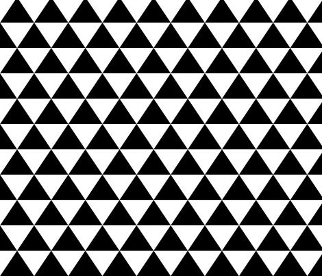 Medium_Black_Triangles fabric by lillybrooke on Spoonflower - custom fabric