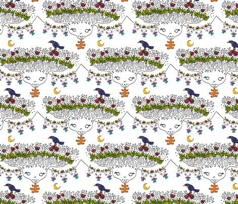 tree skulls 2 fabric by skellychic on Spoonflower - custom fabric