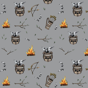 Bear Theme Grey