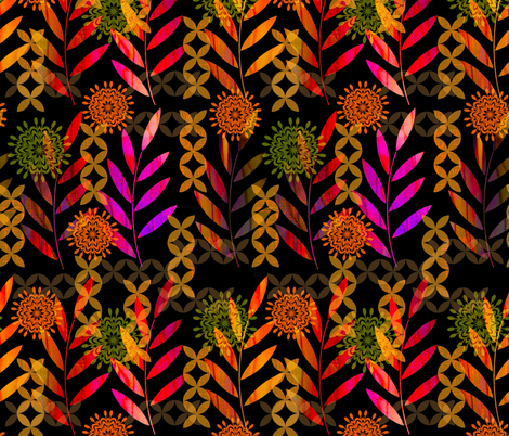 Rainbow Ferns fabric by dianedoran on Spoonflower - custom fabric