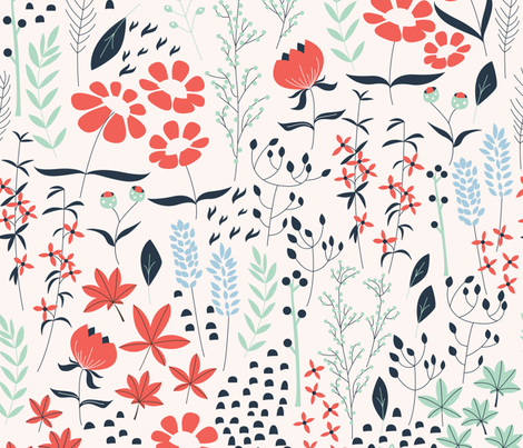 First Spring Day fabric by bluelela on Spoonflower - custom fabric