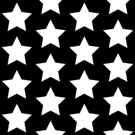 White star on black fabric by rebelinn on Spoonflower - custom fabric