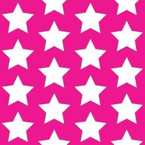 white stars on magenta