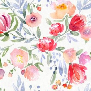 Watercolor-floral-pattern