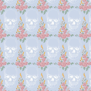 Floral Framed Skulls