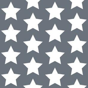 white stars on medium gray