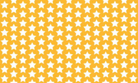 white stars on yellow gold fabric by rebelinn on Spoonflower - custom fabric