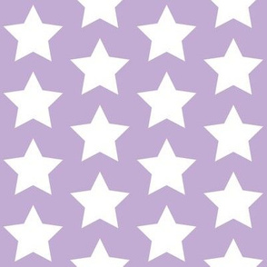 whites stars on lilac