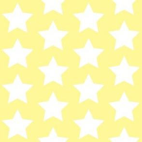 white star on pastel yellow