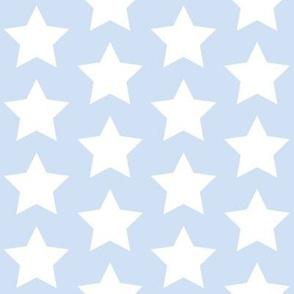 white stars on light blue