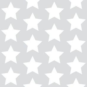 white stars on light gray