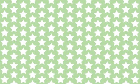 white stars on mint green fabric by rebelinn on Spoonflower - custom fabric