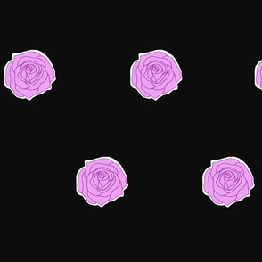 black_and_purple_rose_single