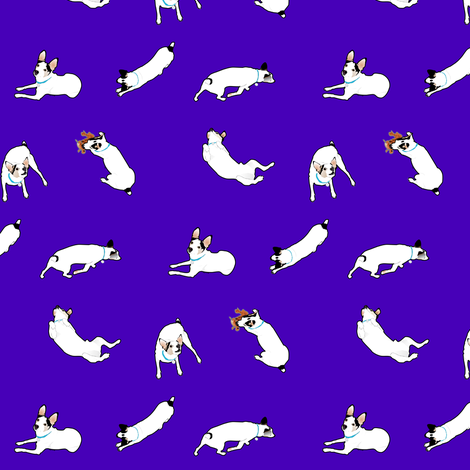 Puppy in purple fabric by combatfish on Spoonflower - custom fabric