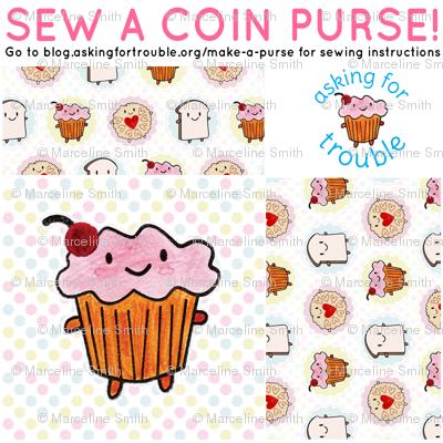 Cakeify the Cupcake Coin Purse - Cut & Sew Pattern