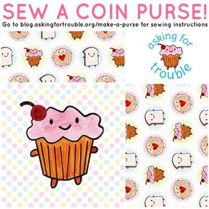 Cakeify the Cupcake Coin Purse - Cut & Sew Pattern