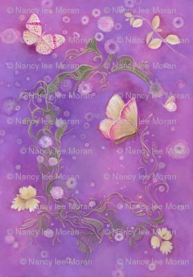 Butterfly Scrolls in Orchid Purple