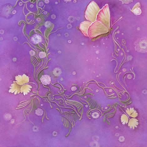 Butterfly Scrolls in Orchid Purple fabric by nancy_lee_moran_designs on Spoonflower - custom fabric