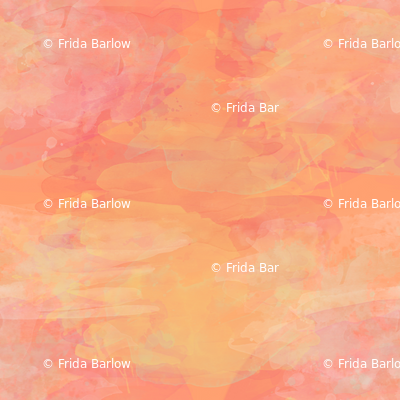 Coral Sunset Watercolor Paint Effect