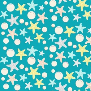 Starfish & Bubbles, Sea Blue