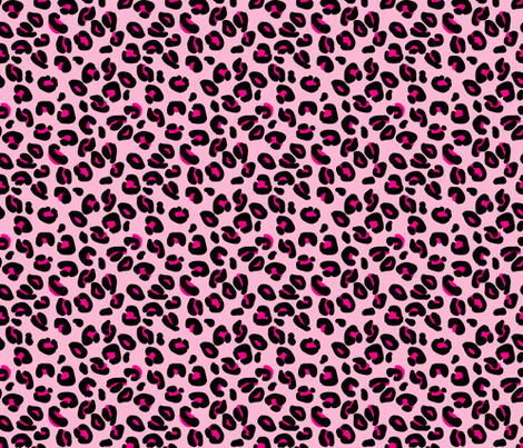 Leopard Spots Pink fabric by paper_and_frill on Spoonflower - custom fabric