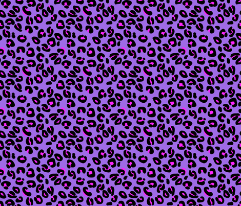 Leopard Spots Orchid fabric by paper_and_frill on Spoonflower - custom fabric