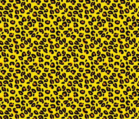 Leopard Spots Lemon fabric by paper_and_frill on Spoonflower - custom fabric