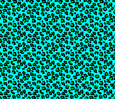 Leopard Spots Aqua fabric by paper_and_frill on Spoonflower - custom fabric
