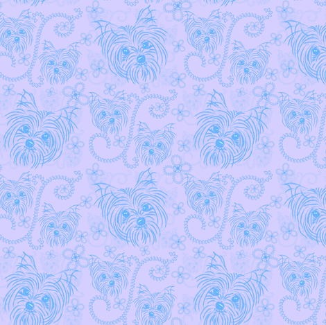 Yorkie -  You take my Heart-ed fabric by sherry-savannah on Spoonflower - custom fabric