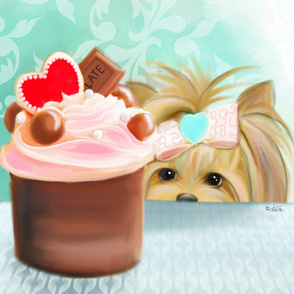 Forbiden Cupcake Quilt Panel