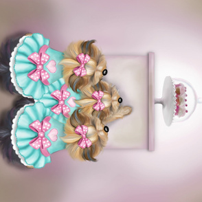 Saint Cupcakes Quilt Panel