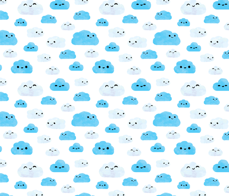 Cloudy Day fabric by ginamayes on Spoonflower - custom fabric