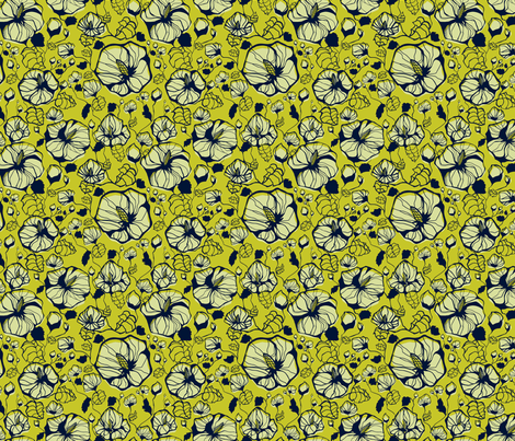 Hibiscus fabric by bitto718 on Spoonflower - custom fabric