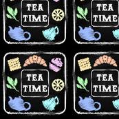 Chalk board. Set Tea Time