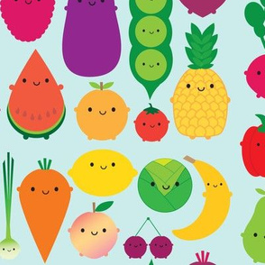 5 A Day Kawaii Fruit and Vegetables