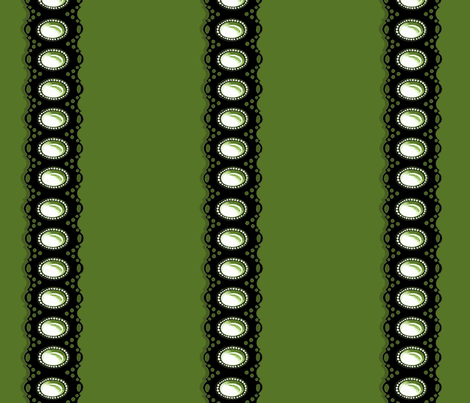 Gem Eyelet Green Black fabric by ingridthecrafty on Spoonflower - custom fabric