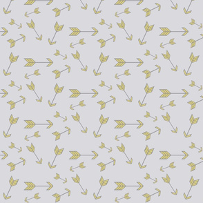Gold arrows on gray