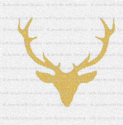 Gold textured deer