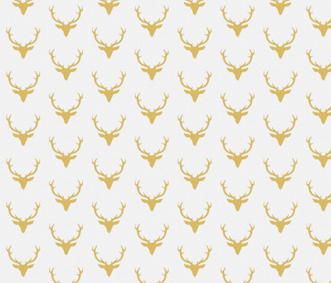 Gold textured deer fabric by sproutz on Spoonflower - custom fabric