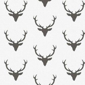 Gray Textured Deer