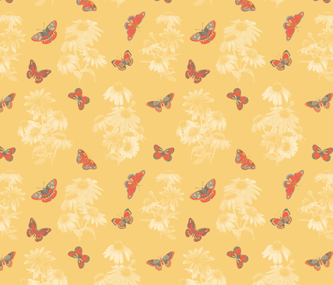 Butterfly Magnet fabric by laine_and_leo on Spoonflower - custom fabric