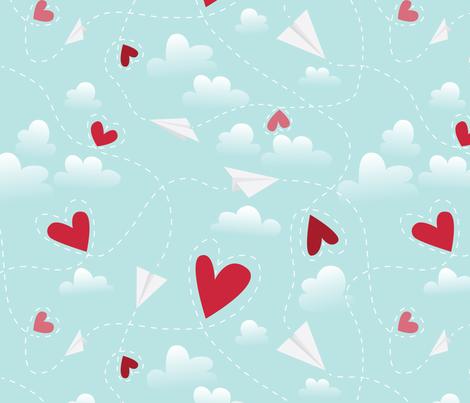 Love is in the Air fabric by kellysurace on Spoonflower - custom fabric